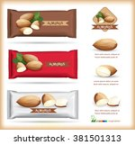 almond packaging .vector | Shutterstock .eps vector #381501313
