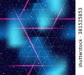 retrofuturistic seamless space... | Shutterstock .eps vector #381525853