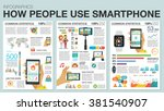 big set infographic with charts ... | Shutterstock .eps vector #381540907
