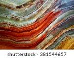 texture of gem stone onyx ... | Shutterstock . vector #381544657