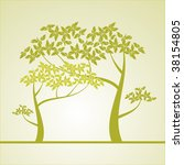 background with a tree | Shutterstock .eps vector #38154805