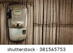 Old Public Telephone Booth Wit...