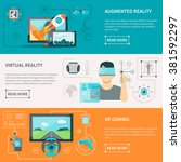 augmented reality by electronic ... | Shutterstock .eps vector #381592297