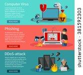 horizontal  hacker banners set... | Shutterstock .eps vector #381592303