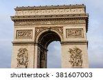 arc de triomphe de l'etoile on...   Shutterstock . vector #381607003