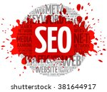 seo   search engine...   Shutterstock .eps vector #381644917