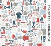seamless pattern with sport... | Shutterstock .eps vector #381657973