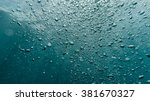 underwater air bubbles in the... | Shutterstock . vector #381670327