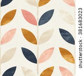 simple shapes seamless pattern... | Shutterstock . vector #381683023