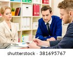 business partners lead the... | Shutterstock . vector #381695767