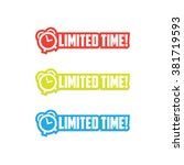 limited time stickers | Shutterstock .eps vector #381719593