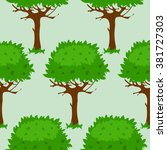 seamless pattern with cartoon... | Shutterstock .eps vector #381727303