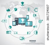e  learning   webinar concept...   Shutterstock .eps vector #381729007