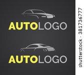 abstract modern car logo...   Shutterstock .eps vector #381736777