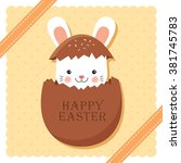 Happy Easter With Lovely Bunny...
