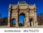 triumphal arch  arc de triomphe ... | Shutterstock . vector #381751273