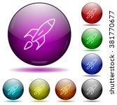 set of color rocket glass...