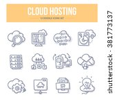 doodle line icons of storing... | Shutterstock .eps vector #381773137