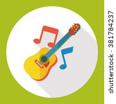 music guitar flat icon | Shutterstock .eps vector #381784237