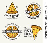 Set Of  Pizza Logo  Badges ...