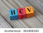 hcv  hepatitis c virus  acronym ... | Shutterstock . vector #381808183