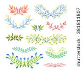 set of isolated floral... | Shutterstock . vector #381811807