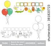 raster copy. rebus kid game.... | Shutterstock . vector #381820723
