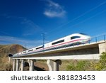View Of A High Speed Train...