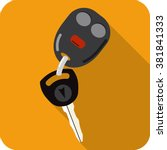 vector car key and key chain  | Shutterstock .eps vector #381841333