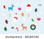 vector christmas decoration set | Shutterstock .eps vector #38185240