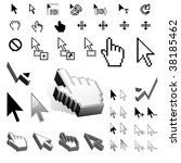 largest set of vector cursor... | Shutterstock .eps vector #38185462