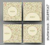 floral ornament vector brochure ... | Shutterstock .eps vector #381899167