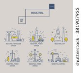big industrial icon set with... | Shutterstock .eps vector #381907933