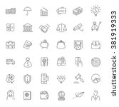 thin line web icon set   money  ... | Shutterstock .eps vector #381919333