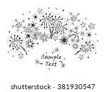 hand drawn doodle fireworks and ... | Shutterstock .eps vector #381930547