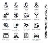 medical services icons set 2  ... | Shutterstock .eps vector #381937093