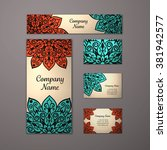 templates set. business cards ... | Shutterstock .eps vector #381942577