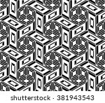vector modern seamless geometry ... | Shutterstock .eps vector #381943543