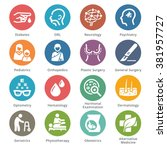 medical specialties icons set 2 ... | Shutterstock .eps vector #381957727