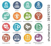 medical services icons set 2  ... | Shutterstock .eps vector #381957733
