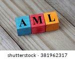 aml  acute myeloid leukemia ... | Shutterstock . vector #381962317
