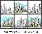cityscape. hand drawn... | Shutterstock . vector #381983623