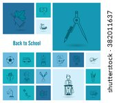 school and education icon set.... | Shutterstock . vector #382011637