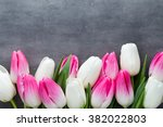 flowers white and pink  on the... | Shutterstock . vector #382022803