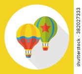 hot air balloon flat icon | Shutterstock .eps vector #382027333