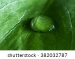 close up of a water drop with a ... | Shutterstock . vector #382032787