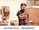 highly skilled craftsman... | Shutterstock . vector #382064017