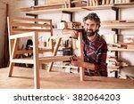 portrait of an artisan designer ... | Shutterstock . vector #382064203