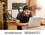male designer and craftsman... | Shutterstock . vector #382064227