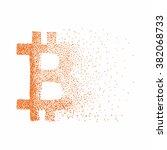 vector bitcoin symbol. hand... | Shutterstock .eps vector #382068733